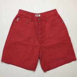 90s Vintage Esprit Red Denim High Waist Jean Short